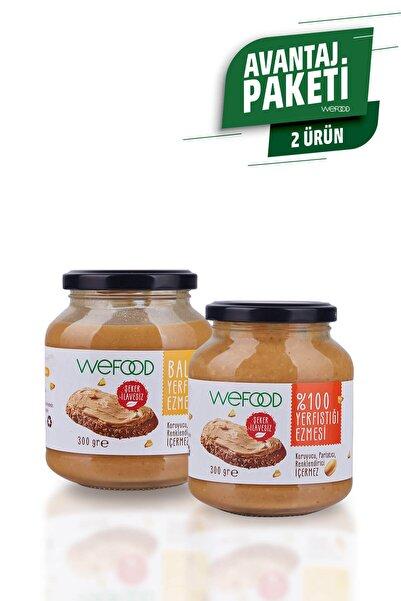 Wefood %100 Fıstık Ezmesi + Ballı Fıstık Ezmesi