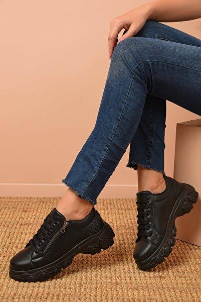Shoes Time Kadın Siyah Günlük Ayakkabı 20k 177