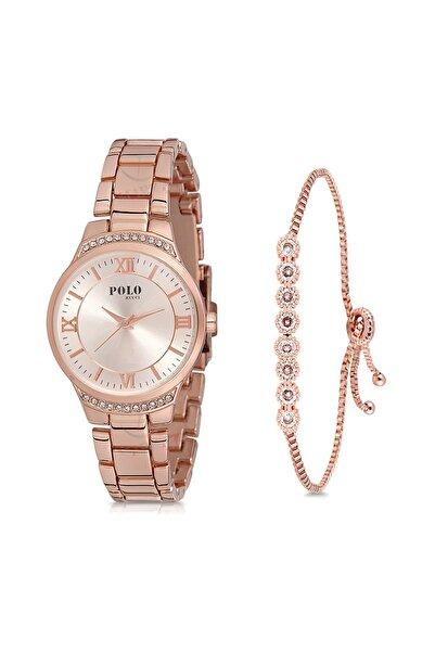 POLO Rucci Kadın Kol Saati Ve Bileklik Hediyeli