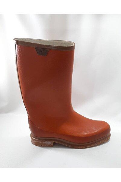 Derby Erkek Kahverengi Kauçuk Uzun İçi Miflonlu Çizme
