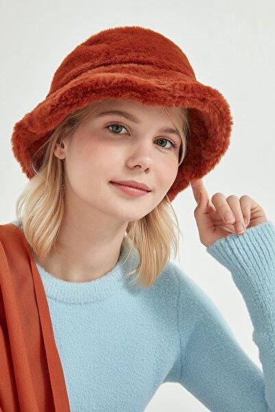 Y-London Unisex Kiremit Renk Bucket Şapka