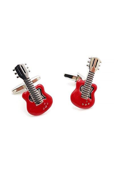 Chavin Erkek Kırmızı Elektro Gitar Çelik Kol Düğmesi Eh49