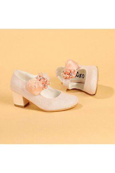 Kiko Kids Kız Çocuk Pembe 4 cm Topuk Babet Ayakkabı