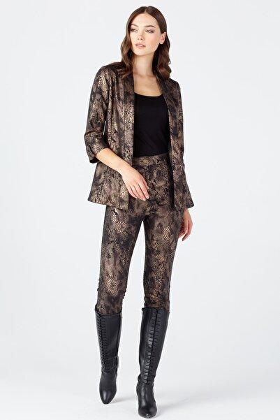 ON Kadın Bakır Desenli Deri Ceket