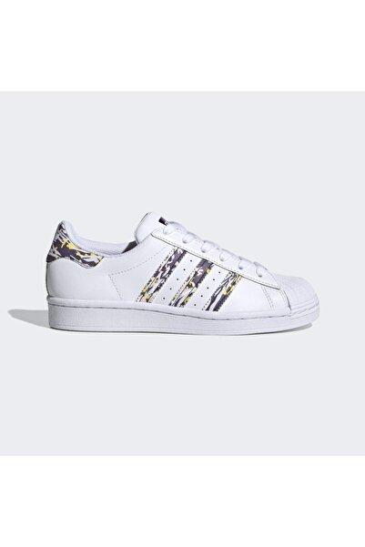 adidas Kadın Beyaz Superstar J Spor Ayakkabı