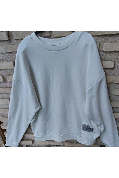 River Island Beyaz  Kapüşonsuz Sweatshirt