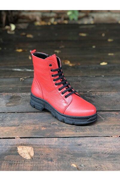 İmaj Kadın Kırmızı Deri Bot