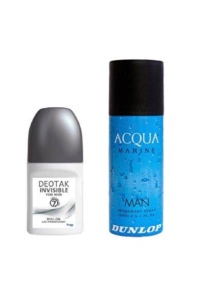 Deotak Invisible Roll-on Men 35 Ml + Dunlop Acqua Marine 150 Ml Erkek Deodorant