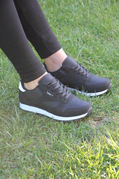 Hotan Unisex Siyah Beyaz Spor Ayakkabı