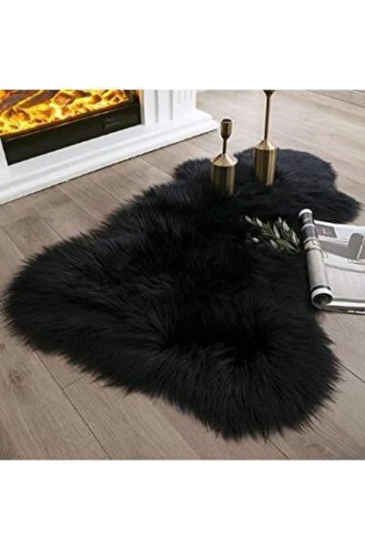 GizHome Giz Home Alaska Peluş Post Halı 60x90 Siyah