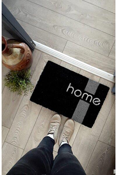 GizHome Giz Home Koko Kapı Paspası 40x60 Siyah Home Bordür