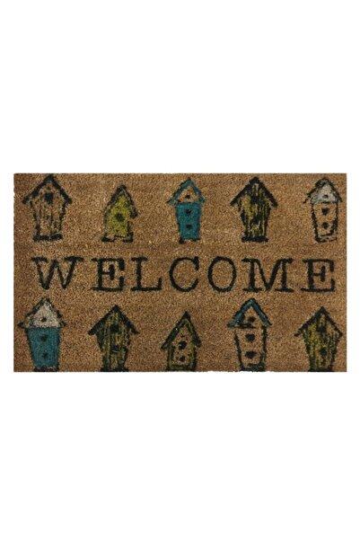 GizHome Giz Home Koko Kapı Paspası 40x60 Welcome Kuş Kafesi