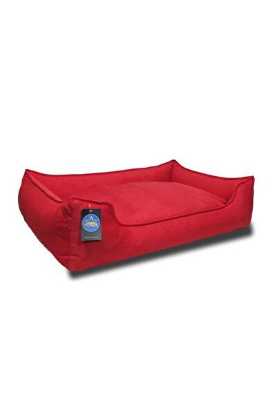 Stella Kırmızı Köpek Yatak Yıkanabilir,fermuarlı,yumuşak Large