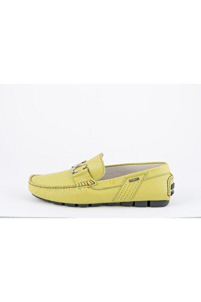 ALBERTO GUARDIANI Erkek Yeşil Deri Loafer Ayakkabı