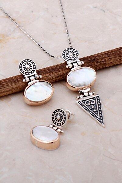 Sümer Telkari Inci Antik Tasarım Elişi Gümüş Set 2097