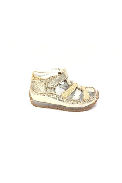 Perlina Kız Çocuk Altın Hakiki Deri Günlük Ayakkabı