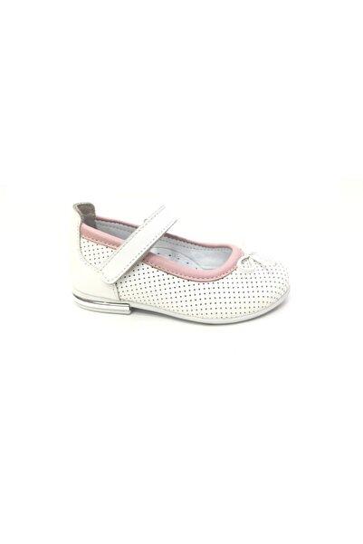 Toddler Kız Çocuk Beyaz Deri Günlük Ayakkabı