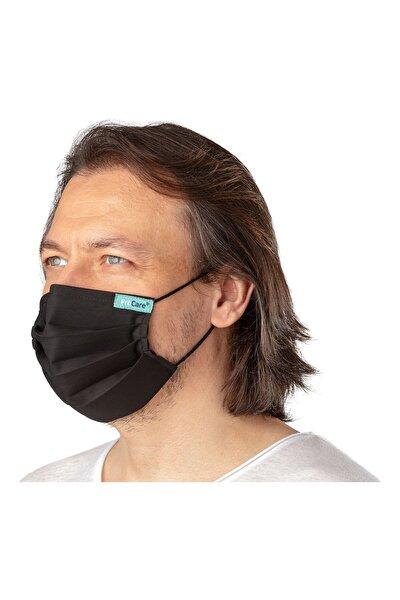 ProCare Unisex Siyah Antiviral Maske Konfor Modeli Yetişkin Çocuk Bebek Maskesi ve Maske Boyun Askısı