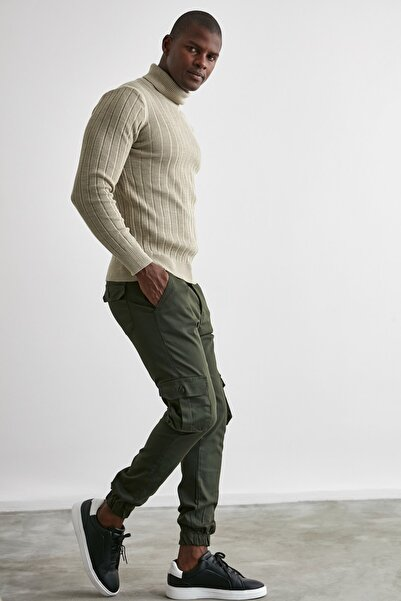 TRENDYOL MAN Haki Erkek Kargo Jogger Pantolon TMNAW20PL0633