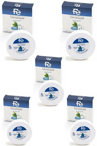 Fe Beyazlatıcı Diş Tozu Natural ( Naturel Florürlü ) 50 gr 5 Adet