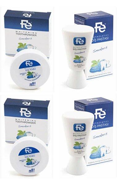 Fe Beyazlatıcı Diş Pastası Smokers (sigara Kullananlaraözel)nane 90gr 2 Adet& Diş Tozu 50gr 2 Adet