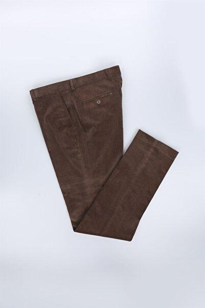 Jakamen Kahverengi Regular Fit Erkek Pantolon