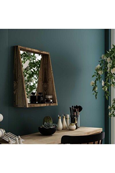 222 Concept Pastel Masif Ceviz Renk 50x45 Makyaj Aynası Cpt2328-50