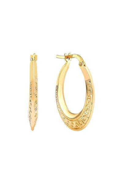 Gelin Pırlanta Gelin Diamond 14 Ayar Altın Halka Küpe (2.2 cm)