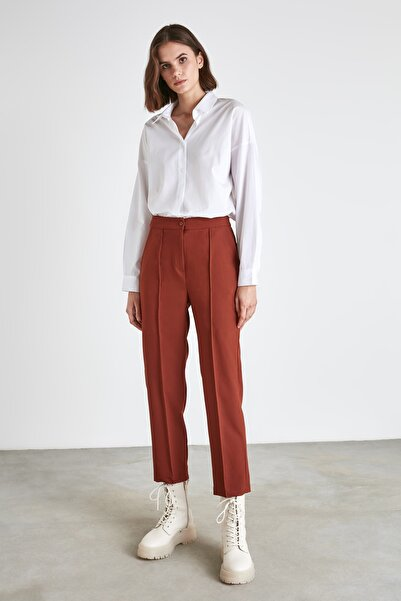 TRENDYOLMİLLA Kiremit Basic Pantolon TWOAW21PL0729