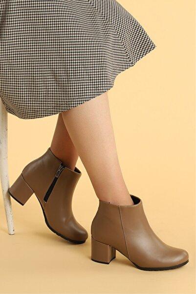 Ayakland 520 Cilt 6 Cm Topuk Termo Taban Bayan Bot Ayakkabı