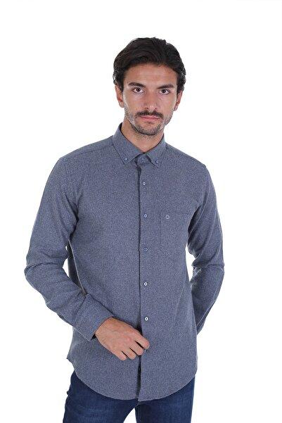 Diandor Erkek Antrasit Düz Renk Oduncu Gömlek