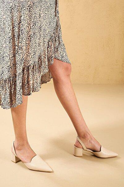 Louis Cardy Kadın Bej Mentallo Hakiki Deri Topuklu Ayakkabı