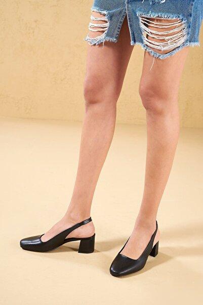 Louis Cardy Kadın Siyah Hogun Hakiki Deri Ayakkabı