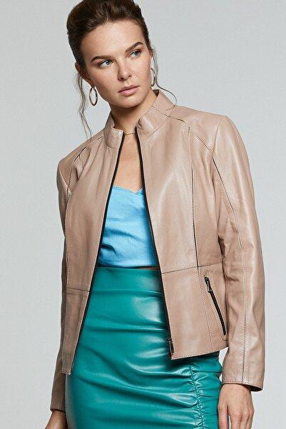 Derimod Kadın Deri Ceket