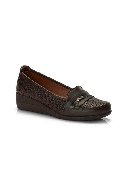 MUGGO Kadın Kahverengi Ortopedik  Ayakkabı A13