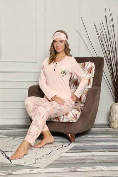 Manolya Kadın Pembe Avakadolu Pijama Takımı
