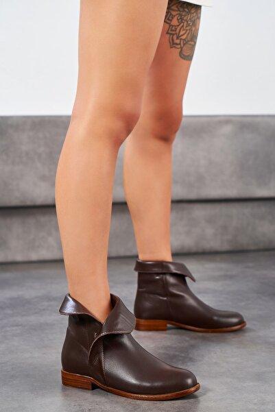 Louis Cardy Kadın Kahverengi Hakiki Deri Bot