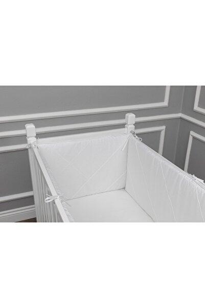 MAYA BABY Klasik Yan Koruma Seti 4 Parça 60x120 cm Beyaz