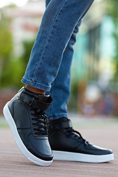MUGGO Unısex Siyah Sneaker Ayakkabı Svt12