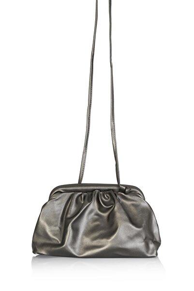 MUGGO Kadın Gümüş Omuz Çanta W4118