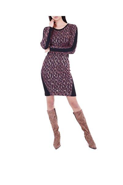 Ece Salıcı Kadın Gül Kurusu Pullu Elbise