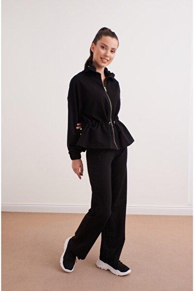 VENA Kadın Siyah Fermuarlı Ceket