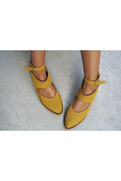 Lo Mejor Shoes Kadın Sarı Bella Deri Özel Tasarım Ayakkabı