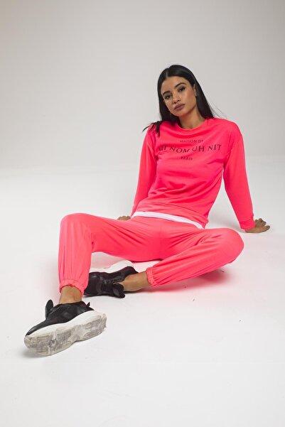 sarıbalon Neon Basıc Eşofman Takımı