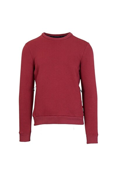 Exuma Erkek Bordo Basic Sweatshirt 2012040-677