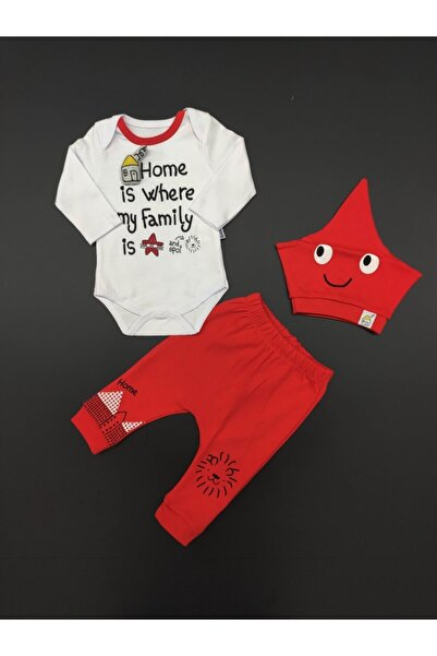 Miniworld Erkek Bebek Ekru Home 3'lü Takım
