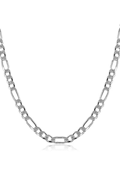 Ventino Silver Erkek Figaro Gümüş Zincir Kolye Vek-3023