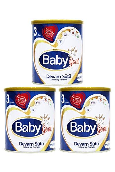 Baby Goat 3 Keçi Sütlü Organik Devam Sütü 400 Gr 3'lü
