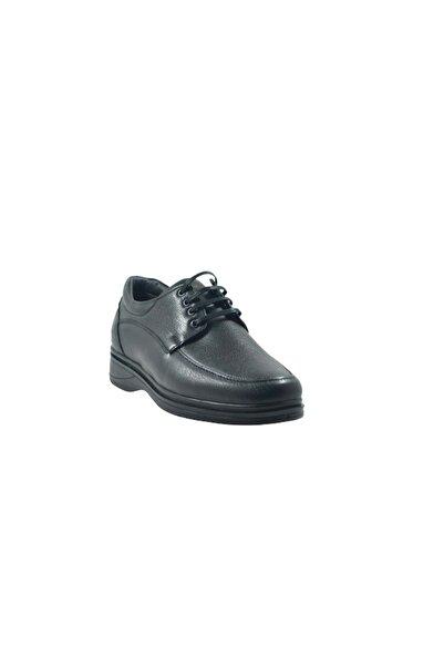 Modesa Erkek Siyah Hakiki Deri Bağcıklı Günlük Ayakkabı