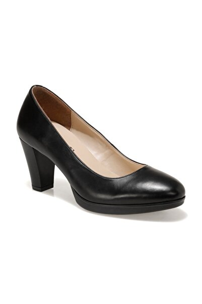 Miss F Dw20021 Siyah Kadın Topuklu Ayakkabı